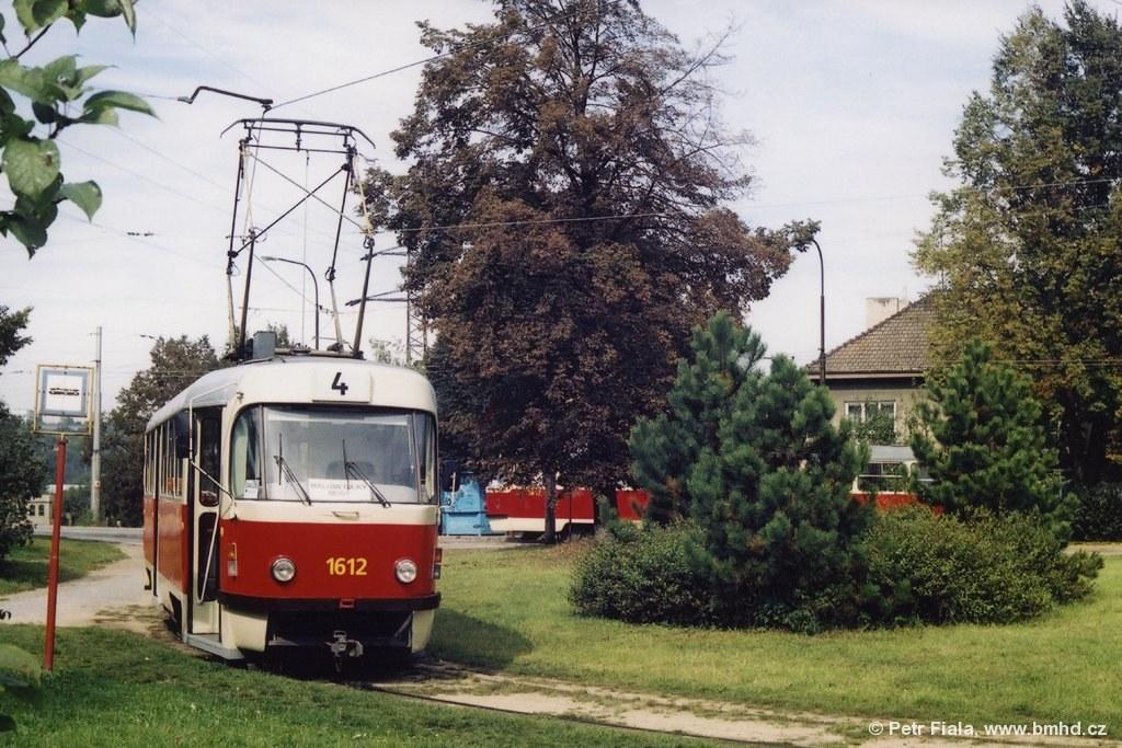 Fotogalerie » ČKD Tatra T3G 1612 | Brno | Maloměřice | Dolnopolní | Maloměřický most, smyčka