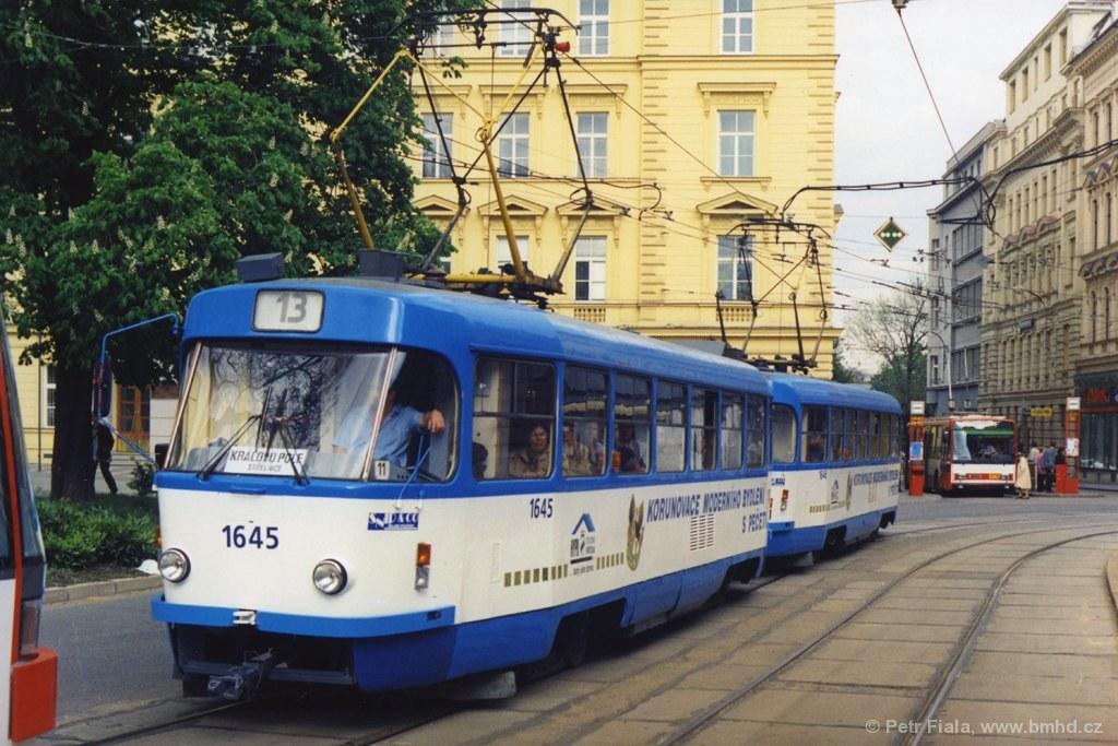 Fotogalerie » ČKD Tatra T3G 1645 | ČKD Tatra T3G 1646 | Brno | střed | Česká