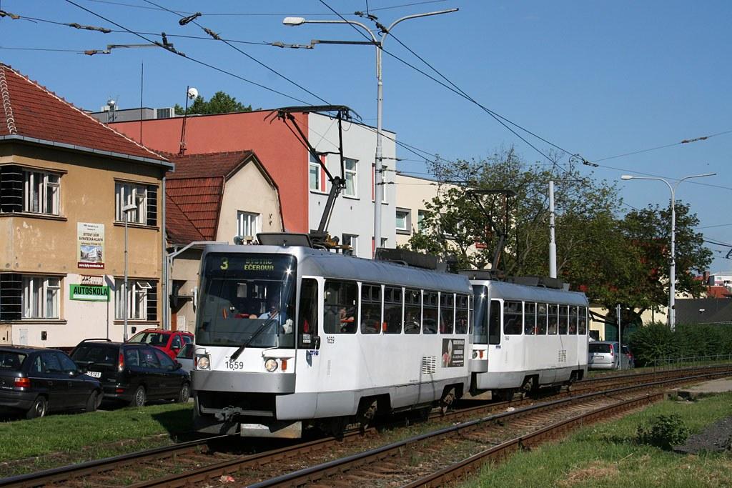 Fotogalerie » ČKD DS T3R 1659 | ČKD DS T3R 1660 | Brno | Komín | Kníničská
