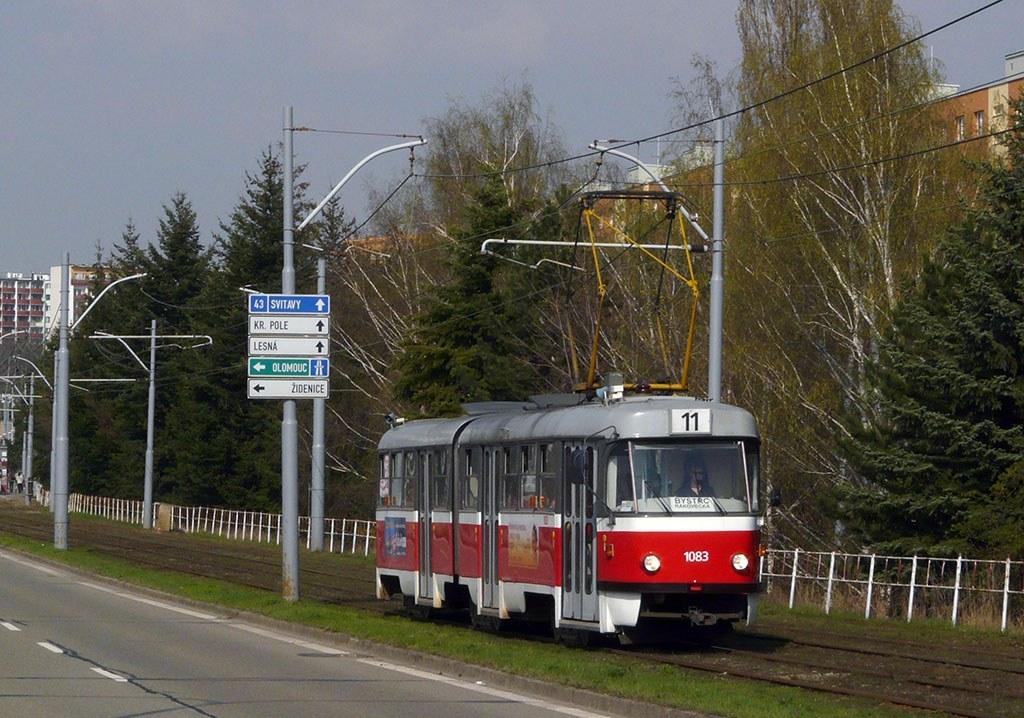 Fotogalerie » ČKD Tatra K2 1083 | Brno | Černá Pole | třída Generála Píky