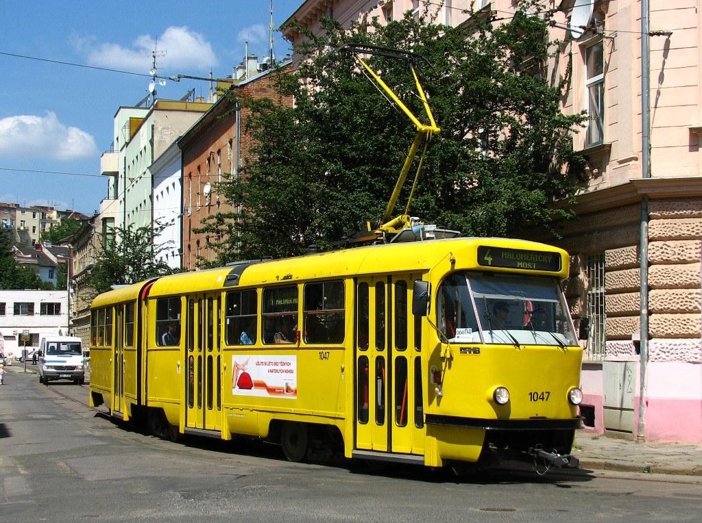 Fotogalerie » ČKD Tatra K2P 1047 | Brno | Husovice | Mostecká | Mostecká