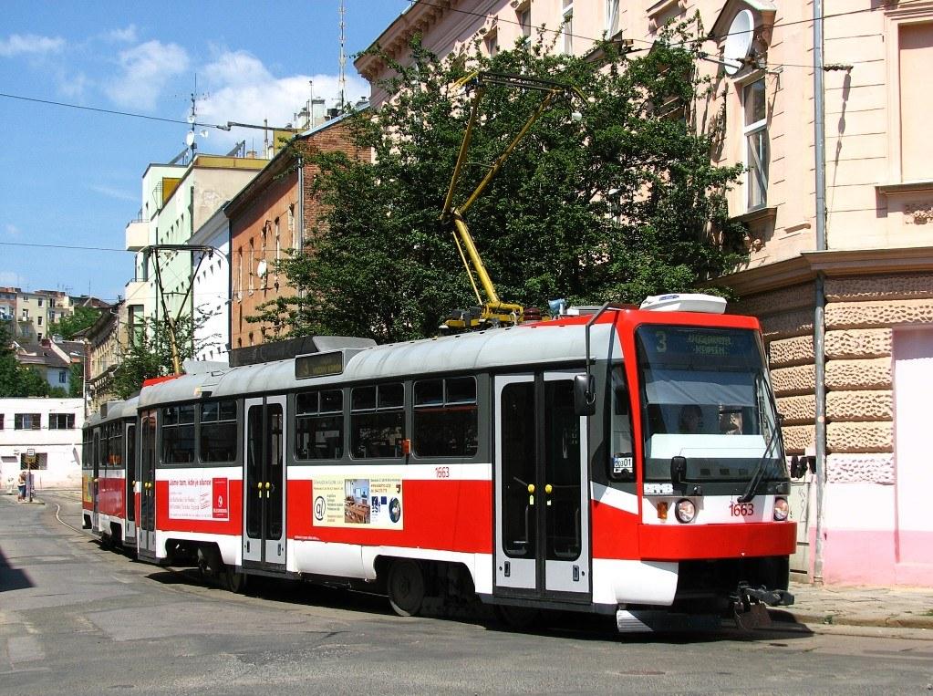 Fotogalerie » ČKD DS T3R 1663 | ČKD DS T3R 1664 | Brno | Husovice | Mostecká | Mostecká