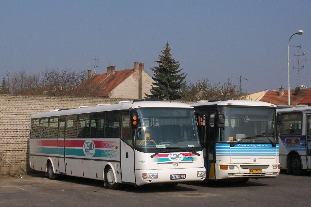 Fotogalerie » SOR SOR C 12 4B8 5624 | Karosa C954E.1360 HOL 73-03 | Kyjov | Kyjov, aut. st.