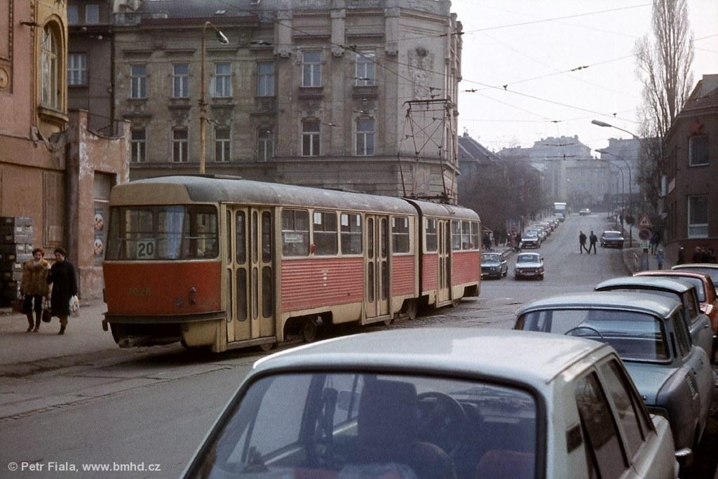 Fotogalerie » ČKD Tatra K2 1028 | Brno | Žabovřesky | Tábor | Tábor