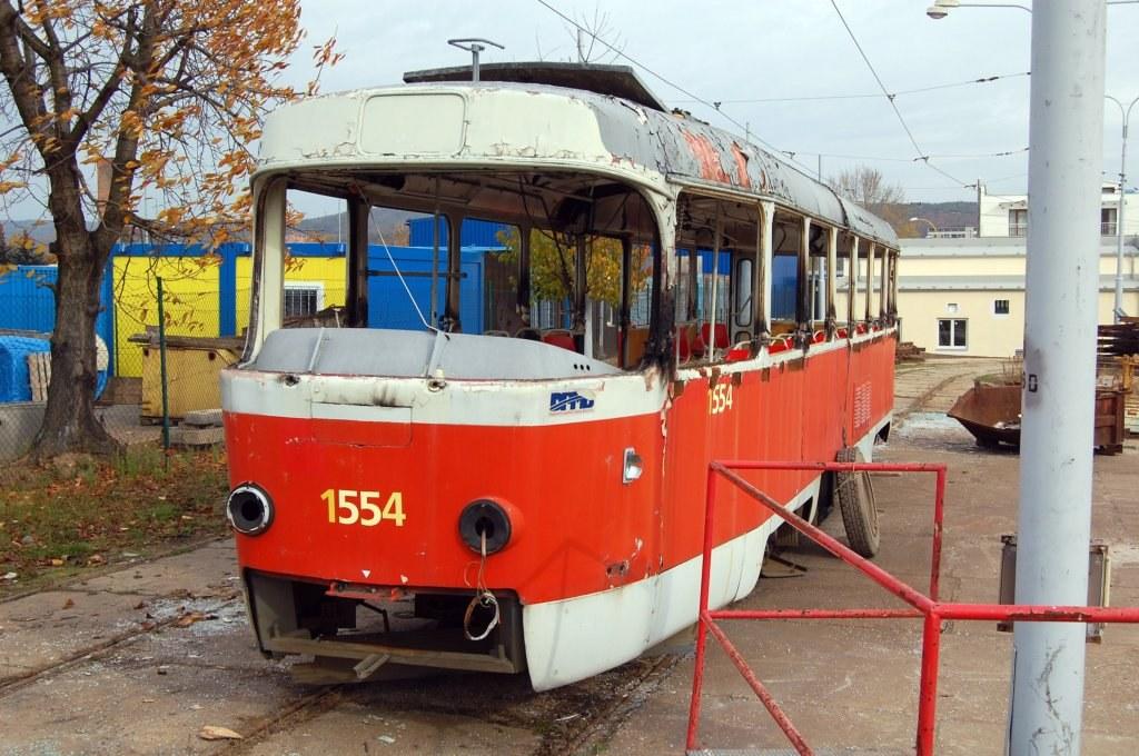 Fotogalerie » ČKD Tatra T3 1554 | Brno | vozovna Medlánky