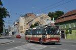 Trolejbus T11 na historické lince H24