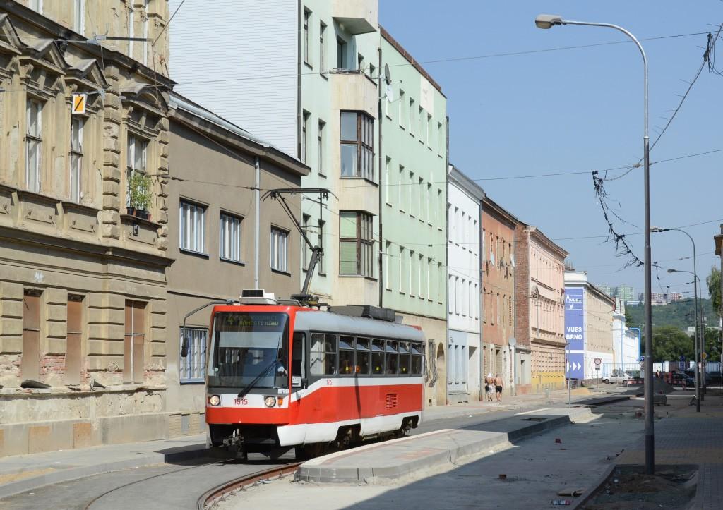 Fotogalerie » ČKD Tatra T3R 1615   Brno   Husovice   Mostecká   Mostecká