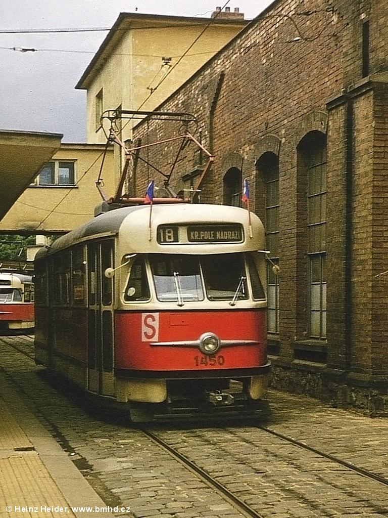 Fotogalerie » Tatra T2 1450 | Brno | Pisárky | Pisárky, smyčka
