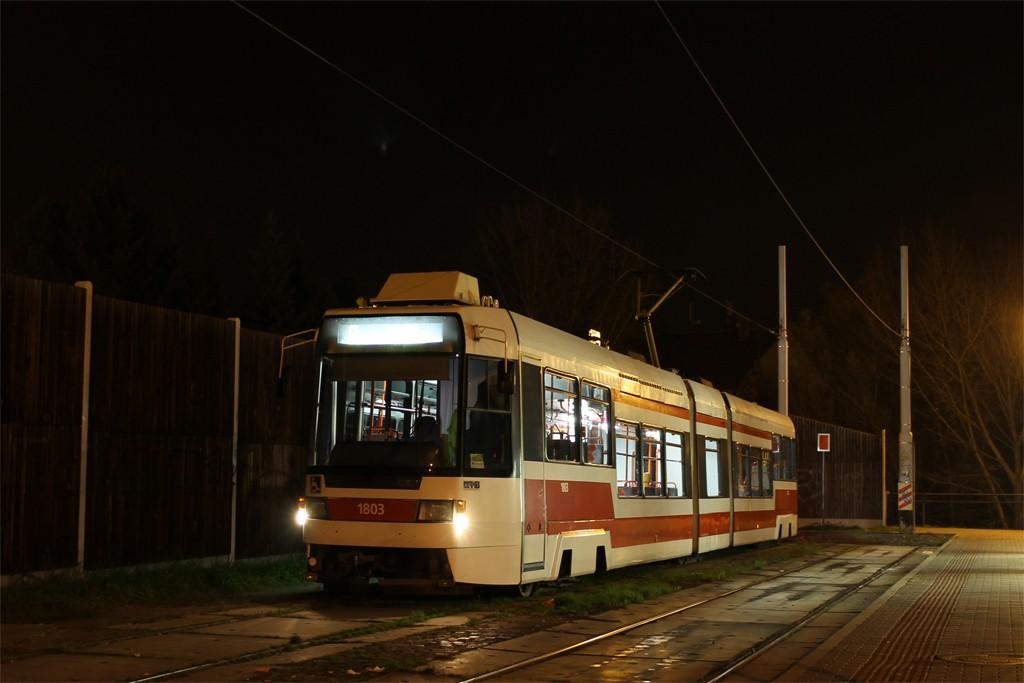 Fotogalerie » ČKD DS RT6N1 1803 | Brno | Líšeň | Mifkova