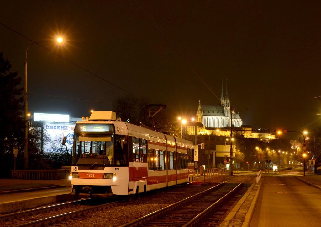 Fotogalerie » ČKD DS RT6N1 1803 | Brno | Štýřice | Renneská třída