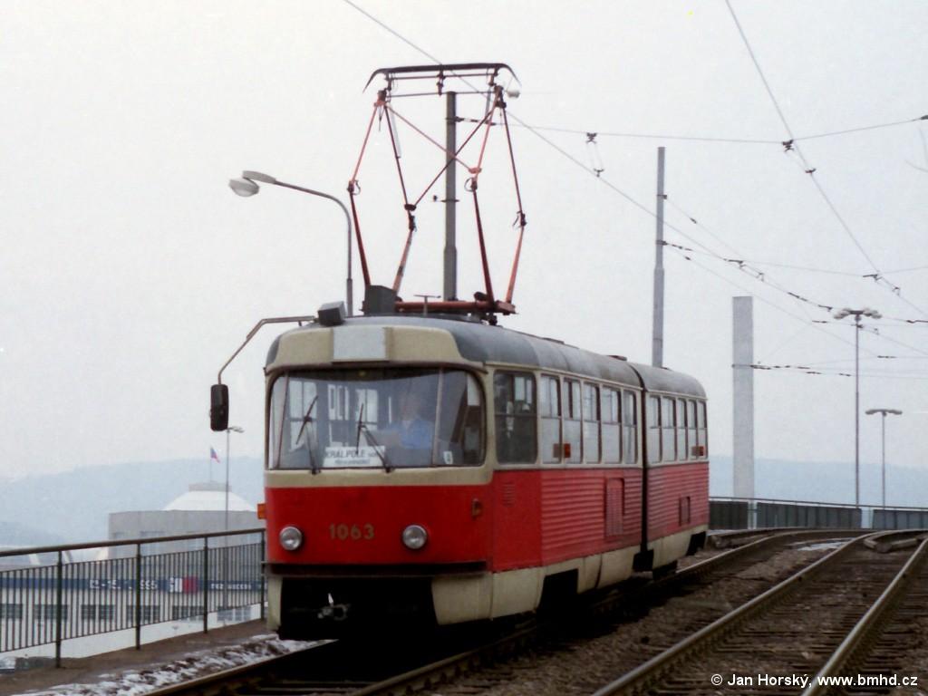 Fotogalerie » ČKD Tatra K2MM 1063 | Brno | Staré Brno | Veletržní