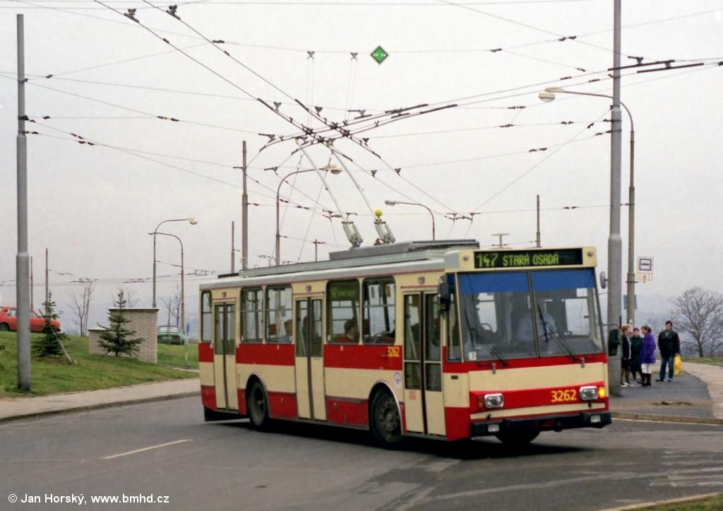 Fotogalerie » Škoda 14Tr14 3262 | Brno | Vinohrady | Pálavské náměstí