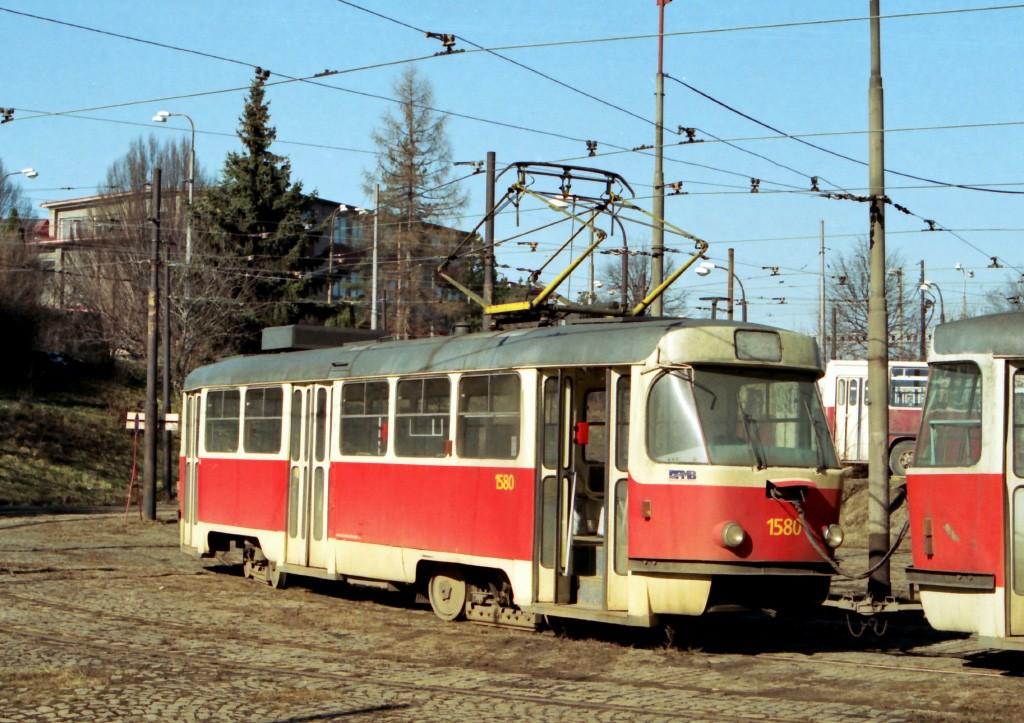Fotogalerie » ČKD Tatra T3M 1580 | Brno | Medlánky | Vozovna Medlánky