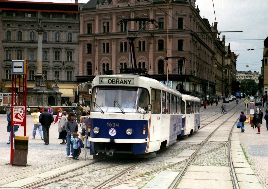 Fotogalerie » ČKD Tatra T3G 1634   ČKD Tatra T3G 1616   Brno   střed   náměstí Svobody   Náměstí Svobody