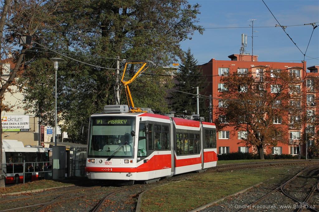Fotogalerie » Škoda 03T7 1821 | Brno | Pisárky | Hlinky