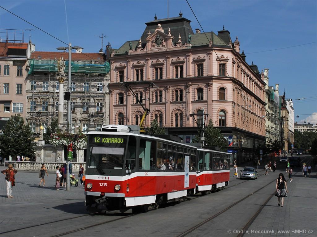 Fotogalerie » ČKD DS T6A5 1215 | ČKD DS T6A5 1216 | Brno | střed | náměstí Svobody