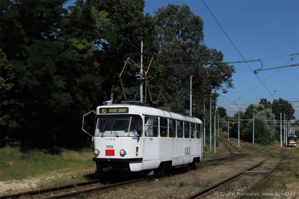 Fotogalerie » ČKD Tatra T3M 1555 | Brno | Židenice | Ostravská