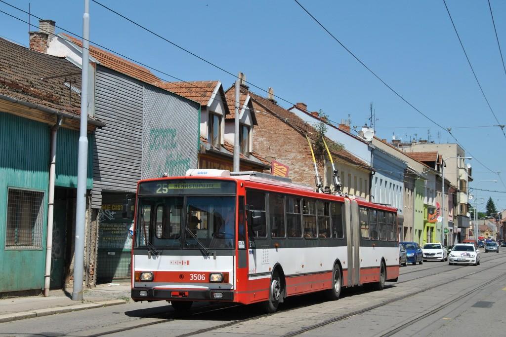 Fotogalerie » Škoda 15TrM 3506 | Brno | Husovice | Dukelská