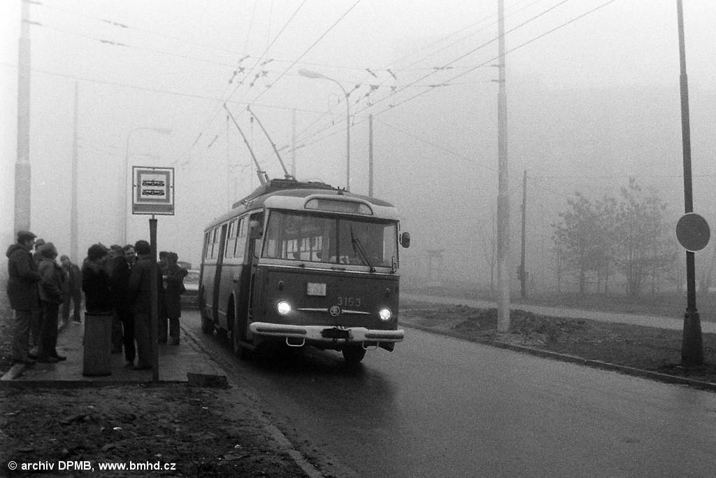 Fotogalerie » Škoda 9TrHT28 3153 | Brno | Starý Lískovec | Labská | Labská