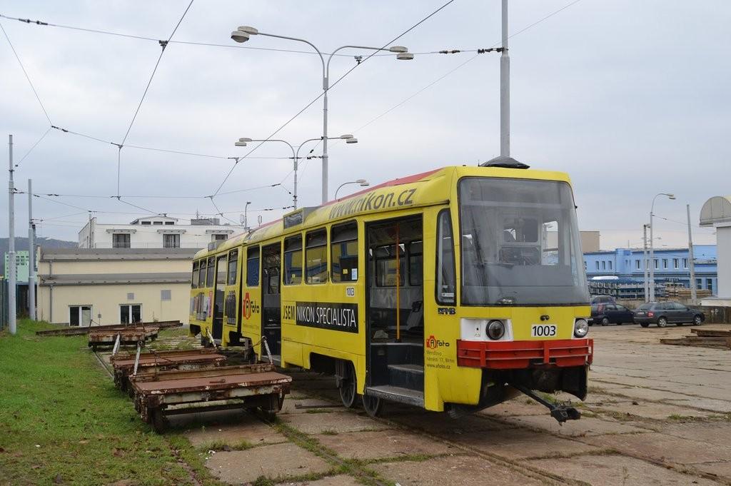 Fotogalerie » ČKD Tatra K2R 1003 | Brno | vozovna Medlánky