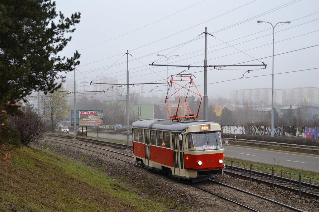 Fotogalerie » ČKD Tatra T3 1525 | Brno | Líšeň | Jedovnická