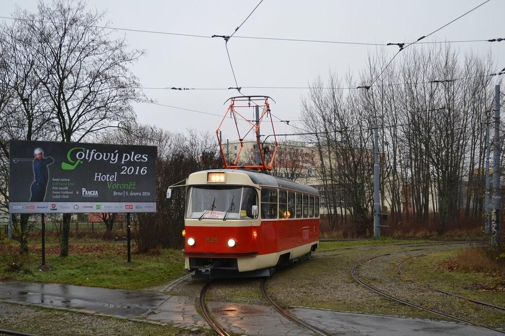 Fotogalerie » ČKD Tatra T3 1525 | Brno | Žabovřesky | Kníničská