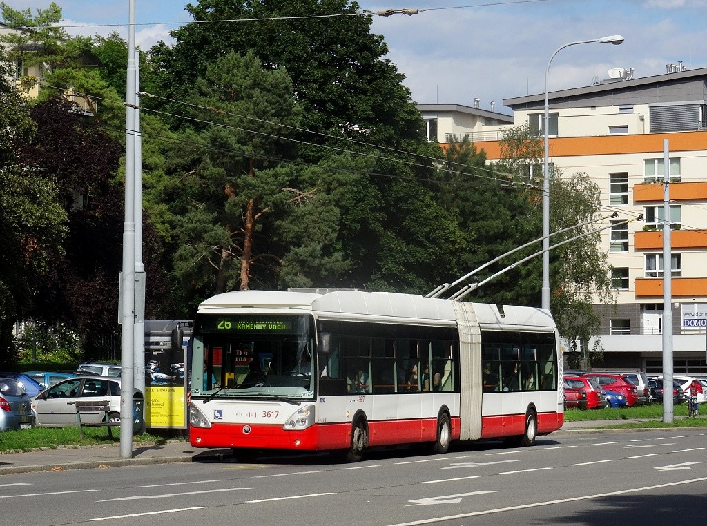 Fotogalerie » Škoda 25Tr Citelis 1B 3617 | Brno | Černá Pole | Provazníkova | Merhautova