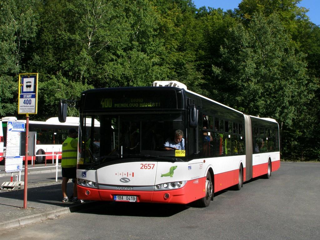 Fotogalerie » Solaris Urbino 18 III 1BA 0419 2657 | Ostrovačice | Ostrovačice, start