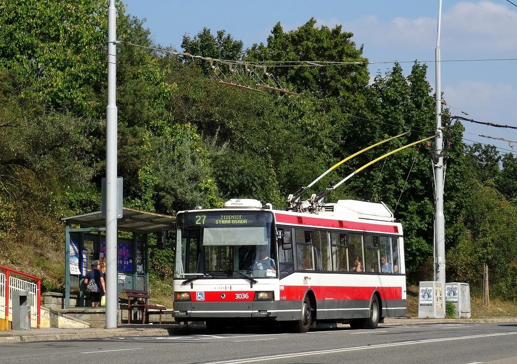 Fotogalerie » Škoda 21Tr 3036 | Brno | Vinohrady | Žarošická | Vlčnovská