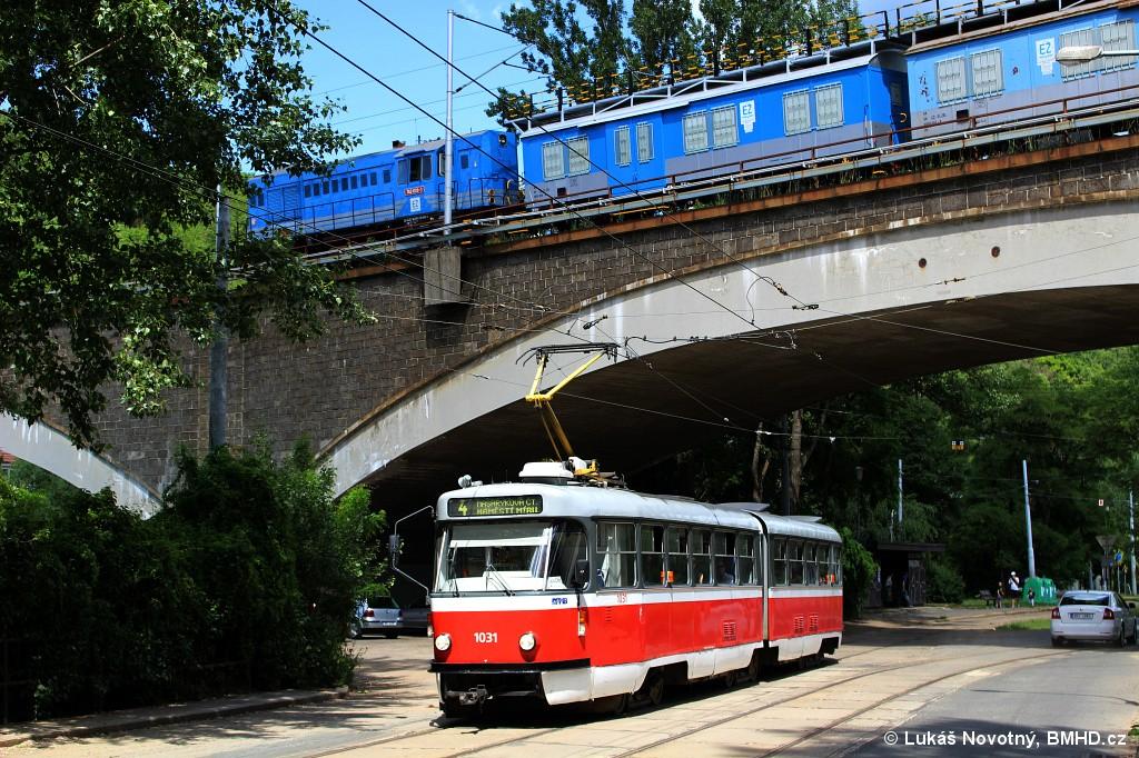Fotogalerie » ČKD Tatra K2P 1031   ČKD Praha 740 740.609-3   Brno   Maloměřice   Obřanská   Babická