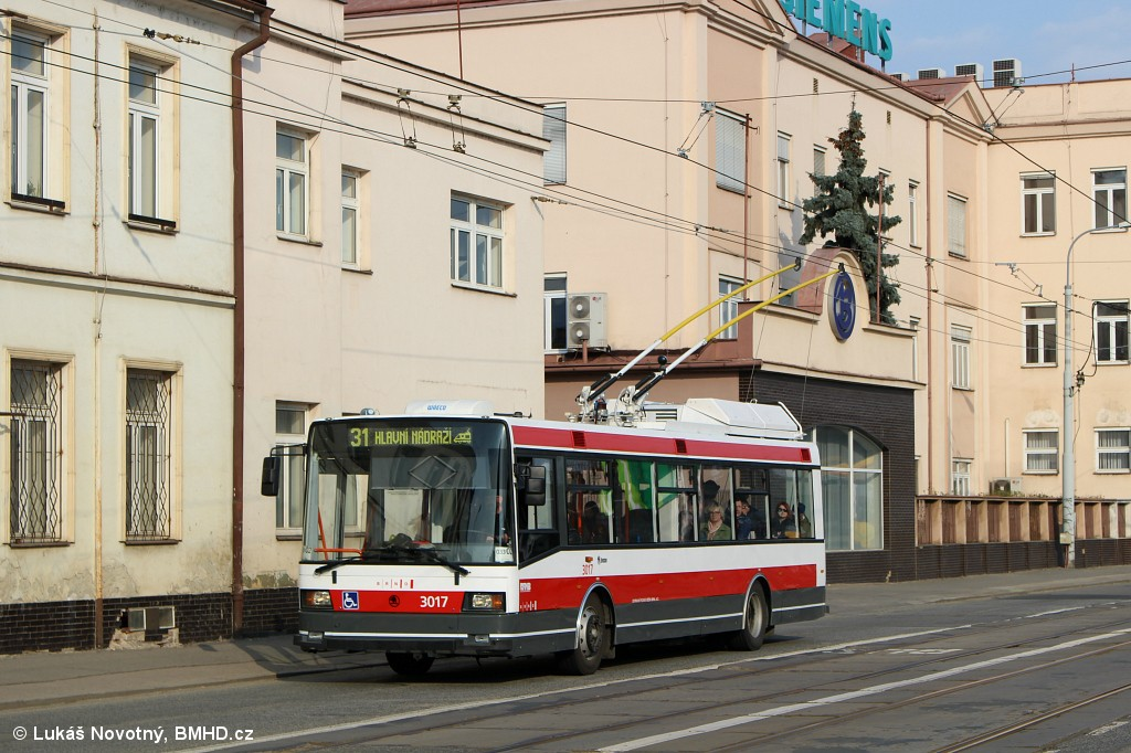 Fotogalerie » Škoda 21Tr 3017 | Brno | Černovice | Olomoucká