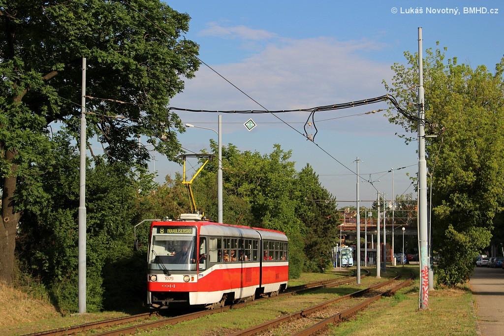 Fotogalerie » ČKD Tatra K2R03 1079 | Brno | Juliánov | Krásného