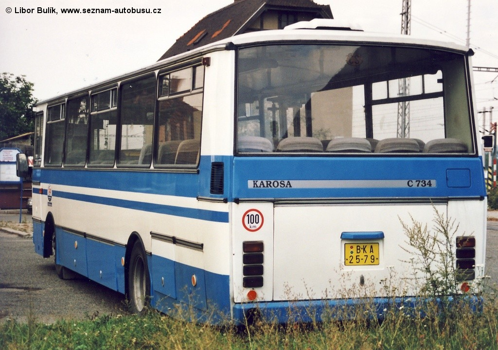 Fotogalerie » Karosa C734.40 BKA 25-79 | Rájec-Jestřebí | Rájec-Jestřebí, žel. st.