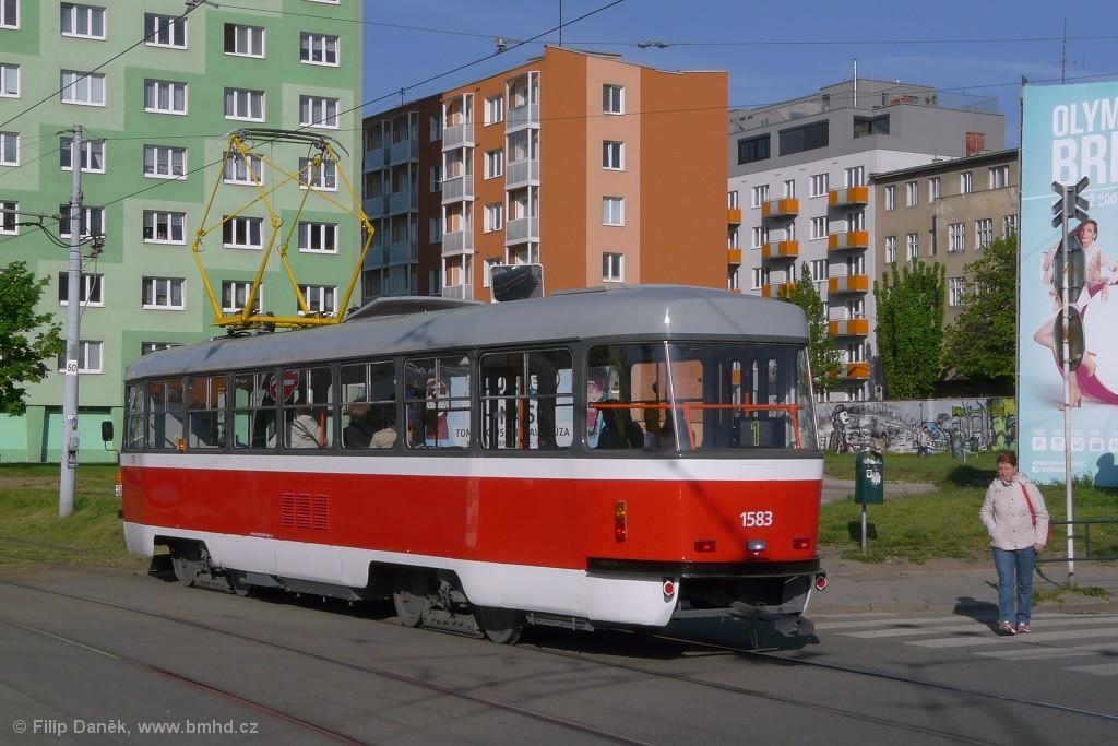 Fotogalerie » ČKD Tatra T3P 1583 | Brno | Staré Brno | Mendlovo náměstí