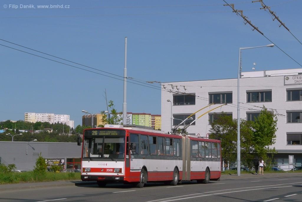 Fotogalerie » Škoda 15TrM 3508   Brno   Vinohrady   Žarošická
