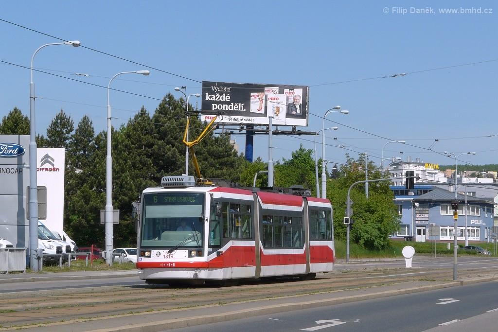 Fotogalerie » Škoda 03T6 1819 | Brno | Medlánky | Palackého třída