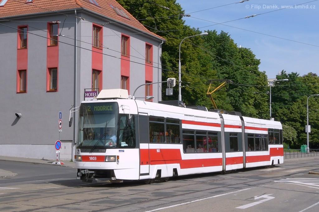 Fotogalerie » ČKD DS RT6N1 1803   Brno   Štýřice   Vídeňská   Celní