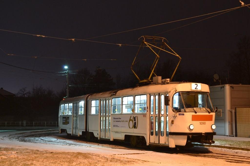 Fotogalerie » ČKD Tatra K2 1090 | Modřice | Brněnská | Modřice, smyčka