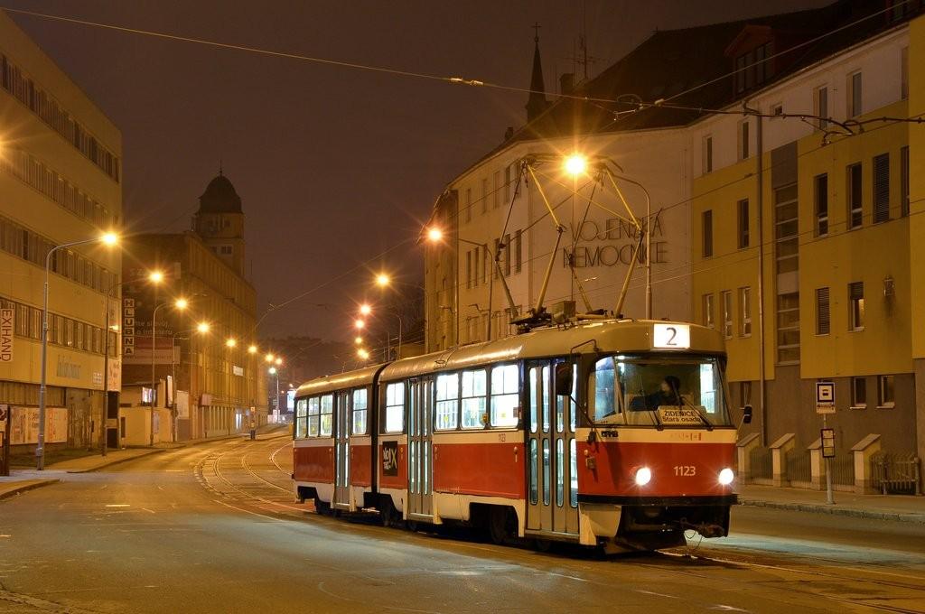 Fotogalerie » ČKD Tatra K2 1123   Brno   Židenice   Zábrdovická