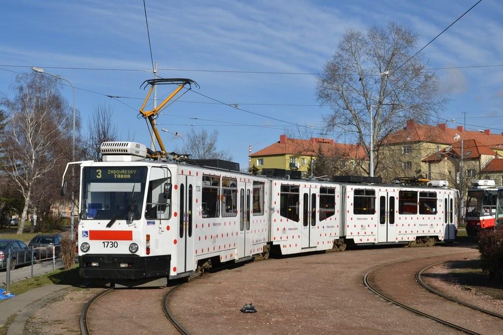 Fotogalerie » ČKD Tatra KT8D5N 1730 | Brno | Židenice | Stará Osada, smyčka