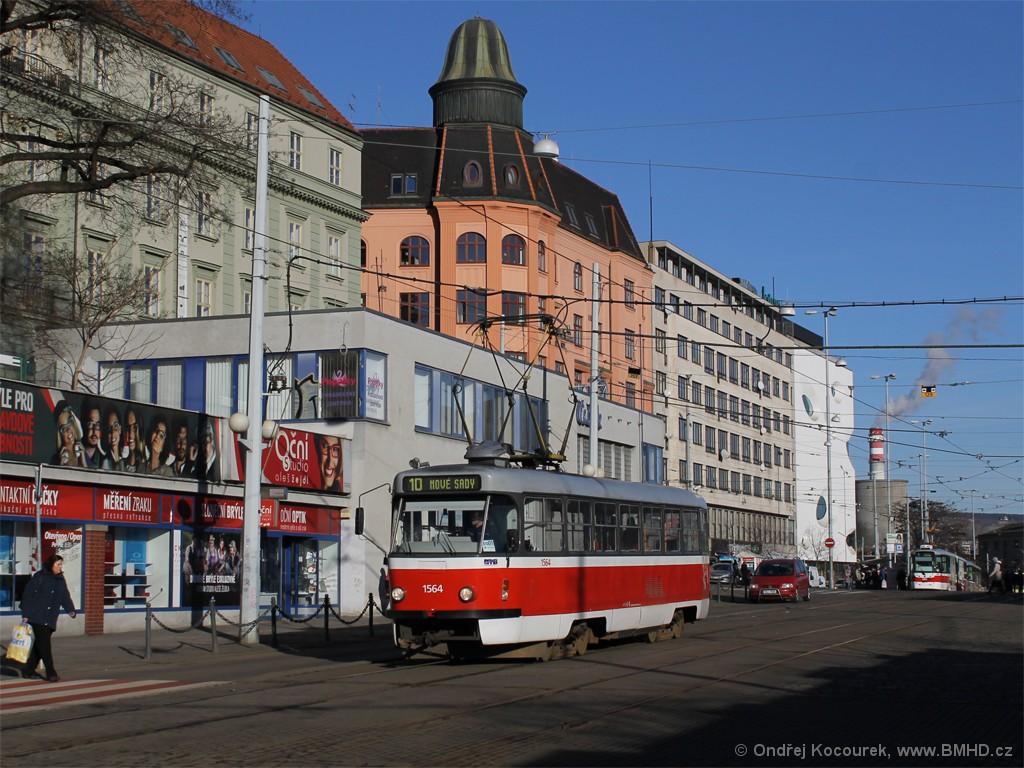 Fotogalerie » ČKD Tatra T3P 1564 | Brno | střed | Nádražní