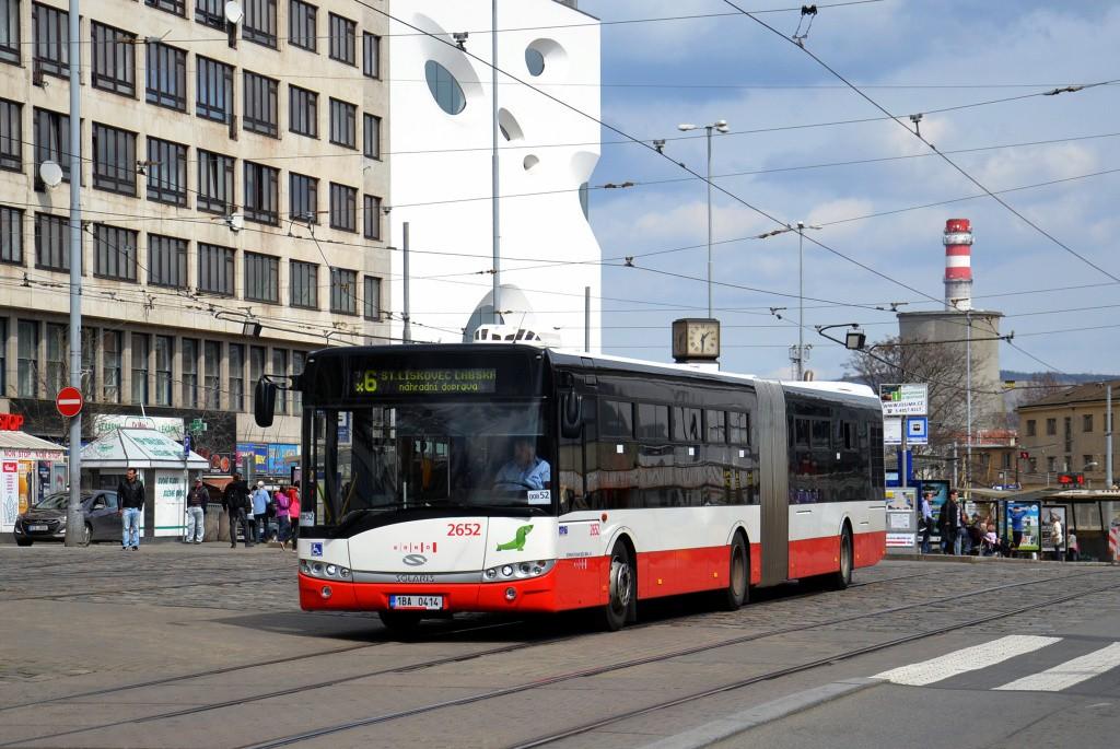 Fotogalerie » Solaris Urbino 18 III 1BA 0414 2652 | Brno | střed | Nádražní | Hlavní nádraží
