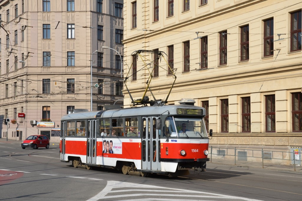Fotogalerie » ČKD Tatra T3P 1564 | Brno | střed | Mendlovo náměstí