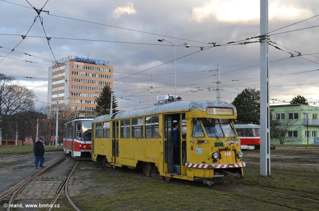 Fotogalerie » Tatra T2R 685 | Brno | vozovna Medlánky