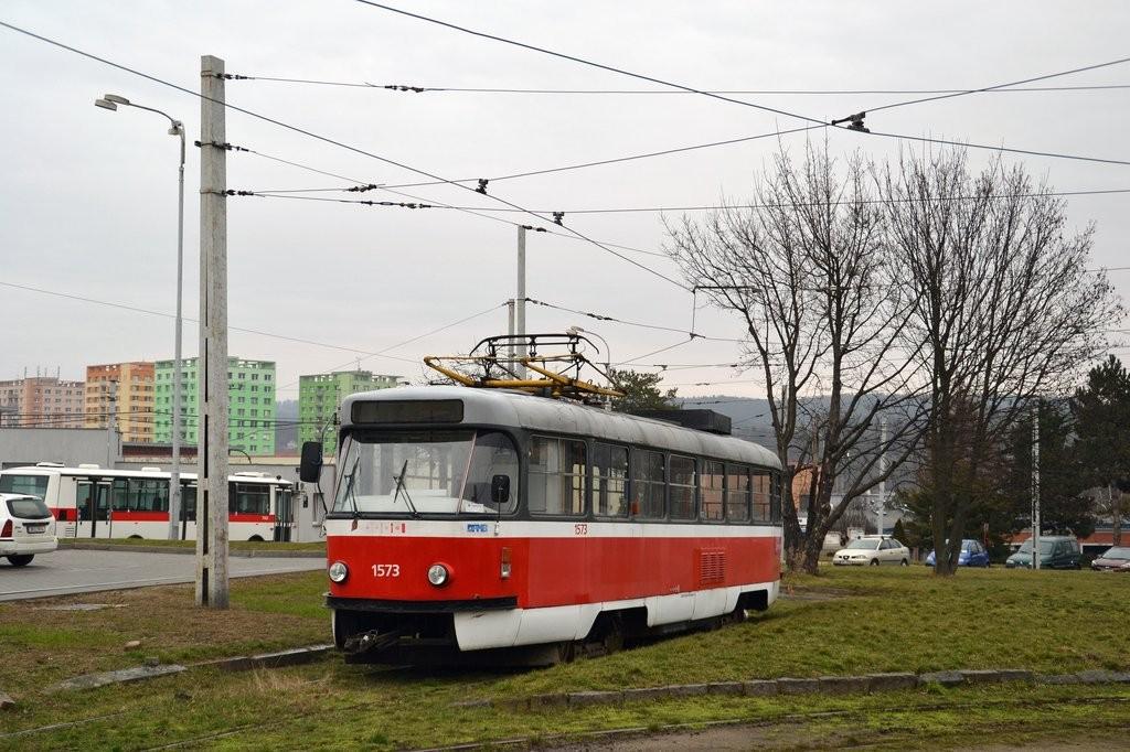 Fotogalerie » ČKD Tatra T3M 1573   Brno   vozovna Medlánky