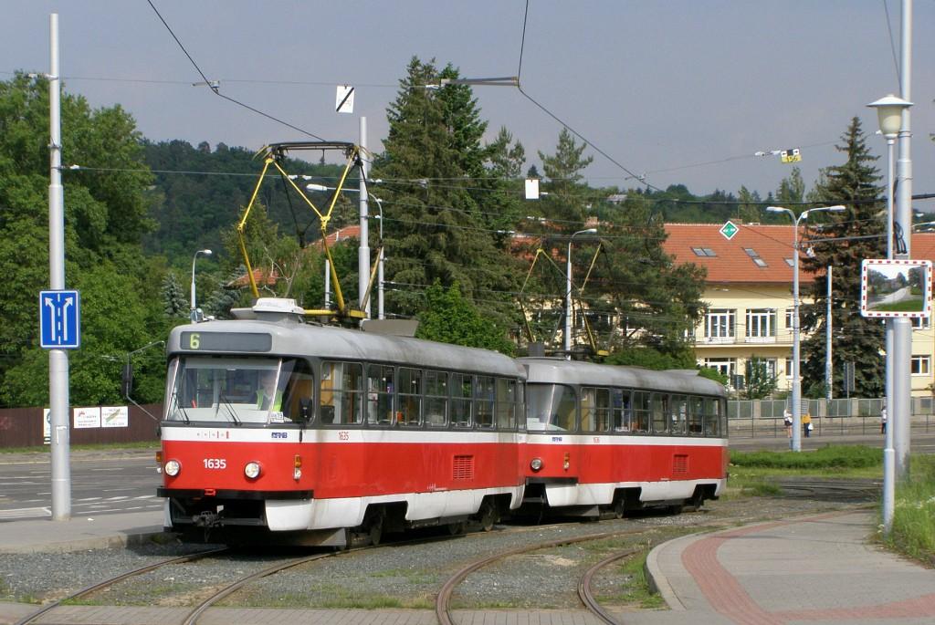 Fotogalerie » ČKD Tatra T3G 1635 | ČKD Tatra T3G 1636 | Brno | Medlánky | Hudcova | Vozovna Medlánky