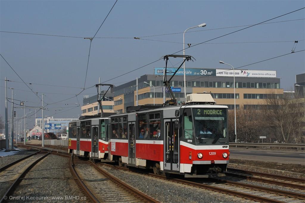 Fotogalerie » ČKD DS T6A5 1209 | ČKD DS T6A5 1210 | Brno | Štýřice | Vídeňská