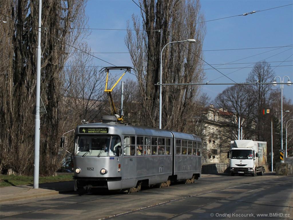 Fotogalerie » ČKD Tatra K2P 1052 | Brno | Husovice | Valchařská