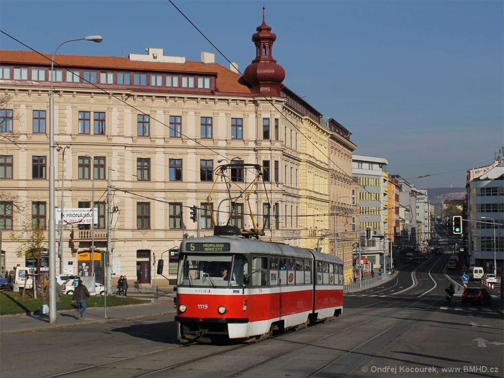 Fotogalerie » ČKD Tatra K2P 1119 | Brno | střed | Moravské náměstí