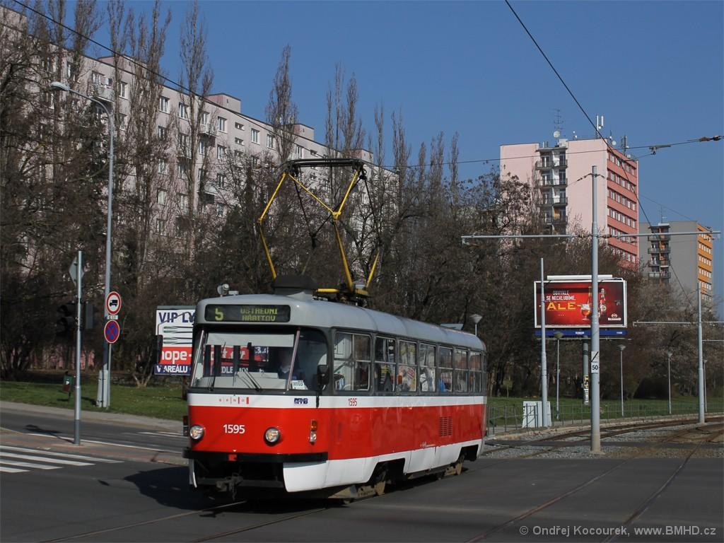Fotogalerie » ČKD Tatra T3P 1595   Brno   Štýřice   Vídeňská